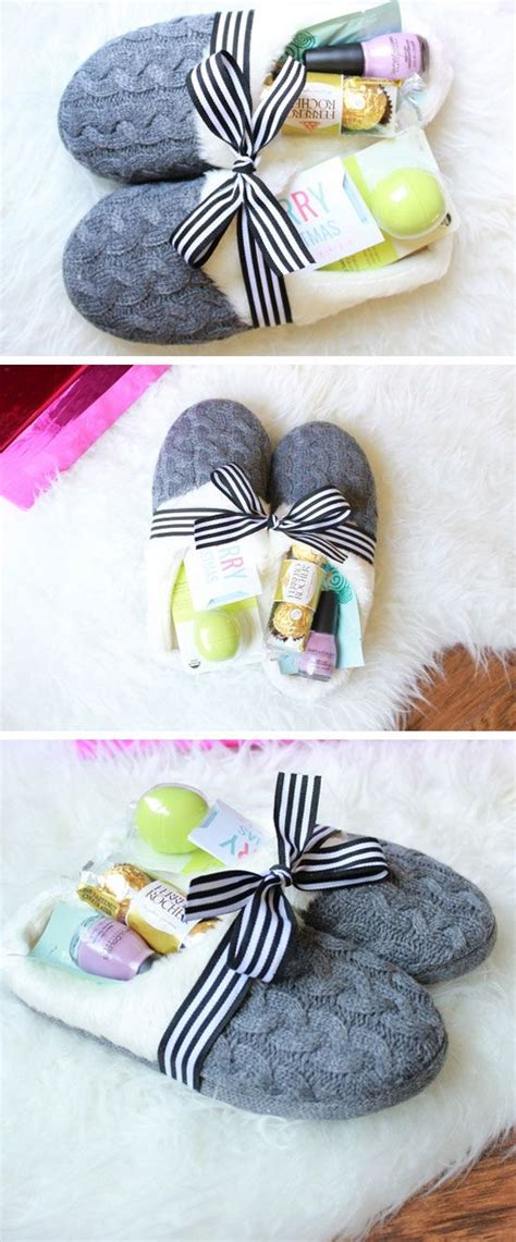 cozy slippers gift basket diy christmas gifts