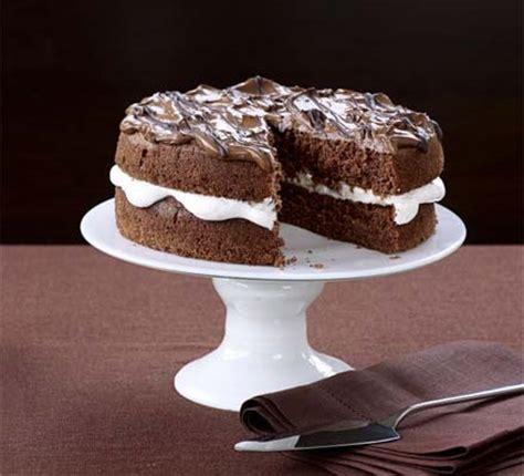 light fluffy chocolate mocha cake food