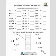 Rounding Decimals To The Nearest Whole