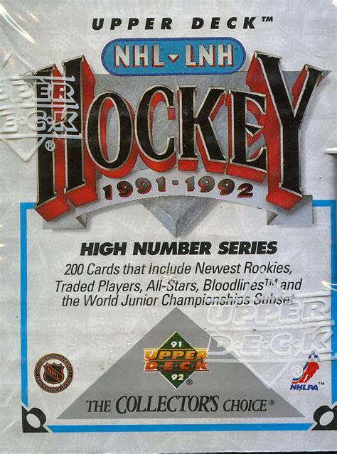 1991 The Deck Company by 1991 92 Deck Hi Hockey Factory Set Da