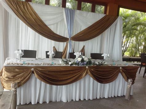 Head Table and Backdrop Head table Banquet tables