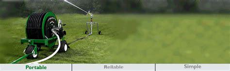 water reels portable hard hose irrigation travelers  kifco