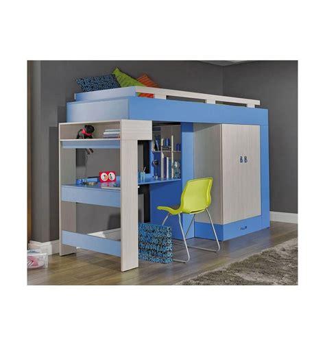 le de bureau bleu lit combiné bureau enfant libellule bleu mobiler d