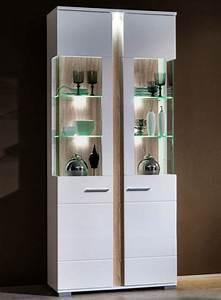 Wohnzimmer Vitrine Weiß Hochglanz : 2er set vitrinen spot vitrinenschrank anrichte kommode ~ Lateststills.com Haus und Dekorationen
