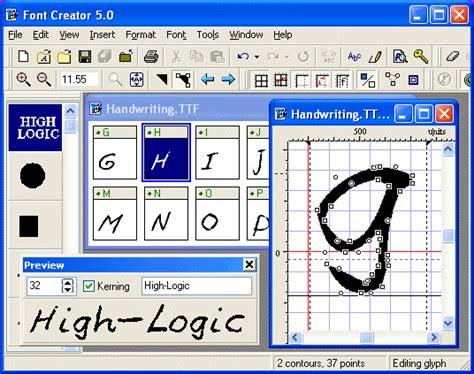 font creator font creator editor software free download