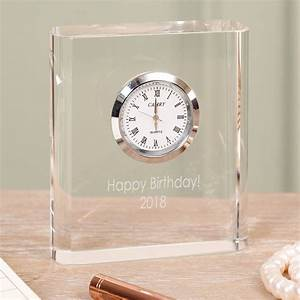 Personalised, Clear, Acrylic, Desk, Clock, Selection, By, Dibor