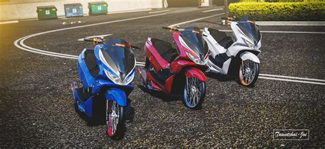 Pcx 2018 Thailook by Honda Pcx 2018 Replace Tuning Gta5 Mods