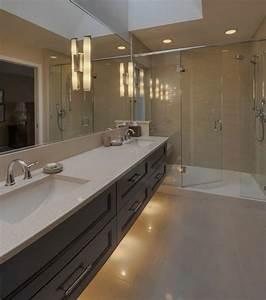 spot douche italienne gallery of niche de douche with With carrelage adhesif salle de bain avec rampe de spot led