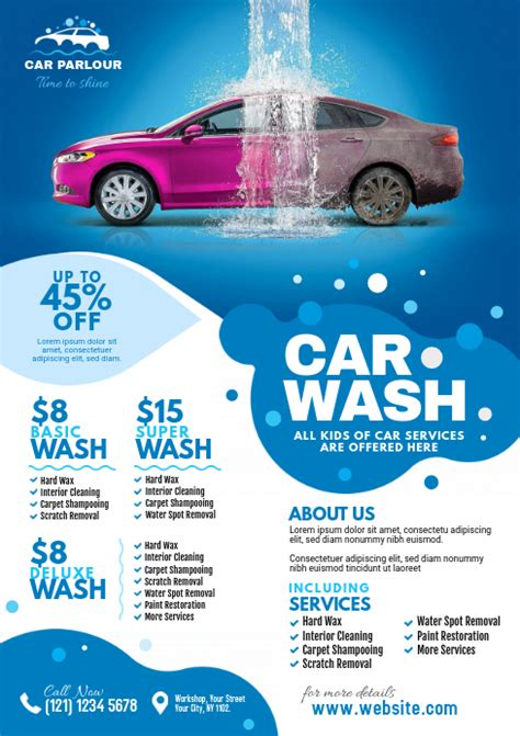 A flyer needs to immediately inform the individual of what its true purpose or goal is. Car Wash Flyer Template | PosterMyWall