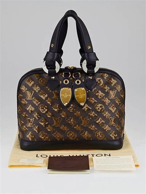 louis vuitton limited edition amber monogram eclipse alma bag yoogis closet