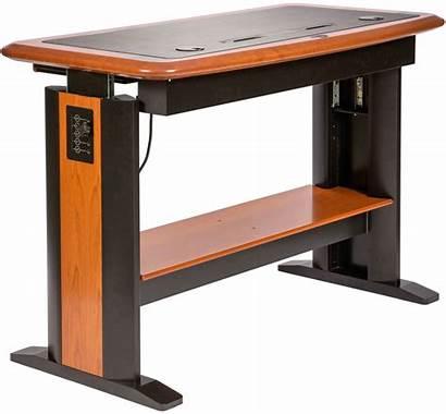 Desk Computer Standing Adjustable Stand Transparent Desks
