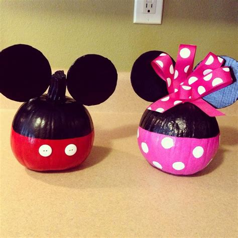 mickey mouse pumpkin ideas 2015 halloween mickey and minnie mouse pumpkins painting decorations crafts crafts i d like