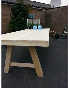 Schiebegardine 300 Cm Lang : tuintafel 80 cm breed tot 300 cm lang met houten a poten r de b meubels op maat ~ Markanthonyermac.com Haus und Dekorationen