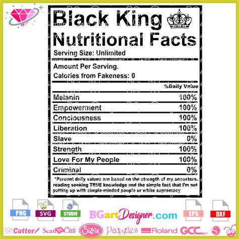 lllᐅBlack king nutritional facts svg - bestseller cricut ...