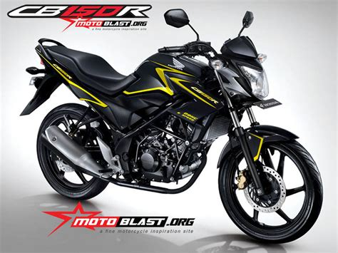 Modif Striping Cb150r Terbaru by Modif Striping Cb150r Black Simple Line Elegan Motoblast
