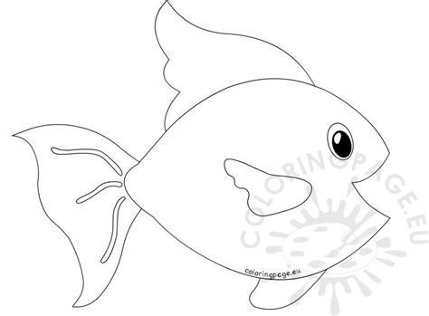 printable big fish sea life coloring page