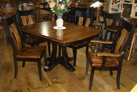 jakes amish furniture richfield table chairs  elm