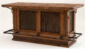 barnwood bar with inlaid bark woodland creek furniture With barnwood bar table