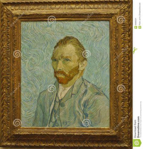 Famous Painting Self Portrait Vincent Van Gogh Stock