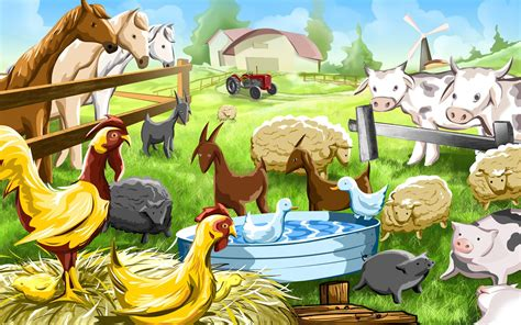 Animal Wallpaper For Childrens Bedroom - farm animals pictures wallpapers images photos of on