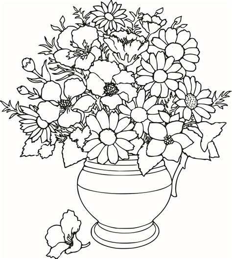 colouring pages detailed flower colouring pages