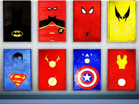 minimalist superhero posters geek decor home decor for