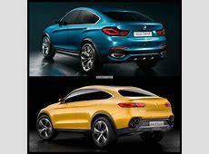 Mercedes GLC Coupe Concept vs BMW X4 Photo Comparison