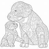 Coloring Pages Doberman Husky Dog Dogs Realistic Adults Cat Getcolorings Printable Print sketch template