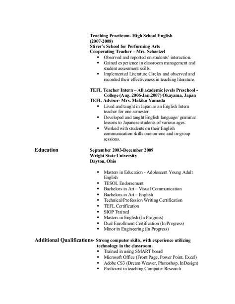 resume for practicum resume ideas