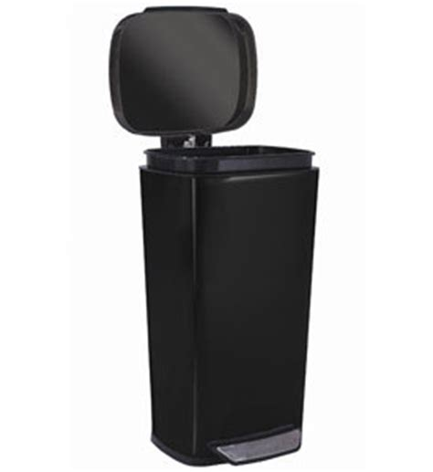 Oxo Kitchen Garbage Cans by Oxo Steel Kitchen Trash Can Black In Stainless Steel