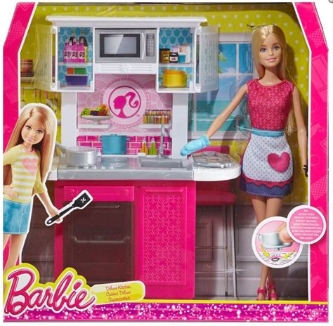 Barbie Doll And Kitchen Furniture Set New!! Cfb62  Ebay