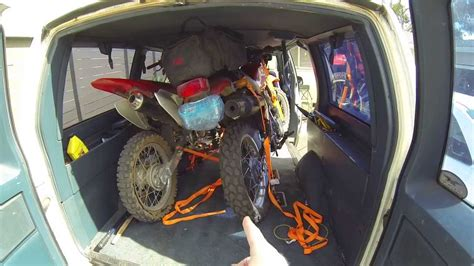 How To Haul Motorcycles In A Van - YouTube
