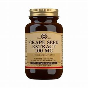 Grape Seed Extract 100 Mg Vegetable Capsules - Pack Of 30