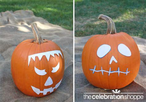 pumpkin painting stencils easy diy spray paint decorated pumpkins