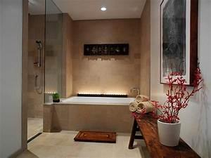 Objet Deco Salle De Bain : salle de bain zen 25 id es de d coration ~ Teatrodelosmanantiales.com Idées de Décoration