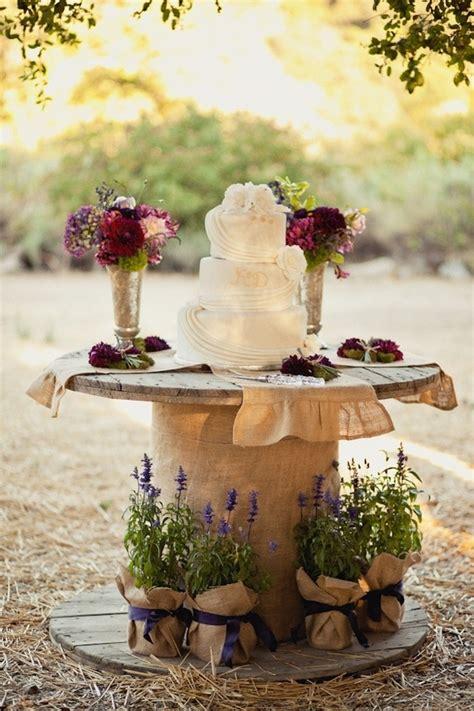 wire spool  cake stand purple wedding wedding