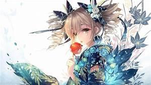 Anime, Girls, Anime, Original, Characters, Kimono, Japanese, Clothes, Wallpapers, Hd, Desktop, And