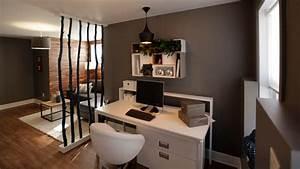 Aménagement D Un Salon : un salon et un bureau dans le sous sol d co tendance casa ~ Zukunftsfamilie.com Idées de Décoration