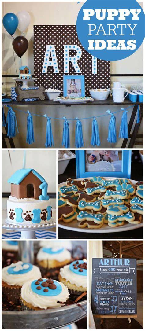 How cute is this puppy pawty? It's for a boy's first