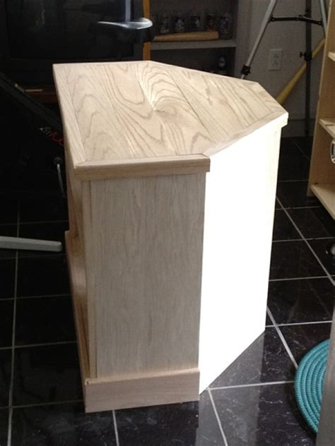 woodworking plans corner tv stand easy  follow