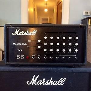 Marshall Master Pa Amplifier Plexi Era 1969 Black Original