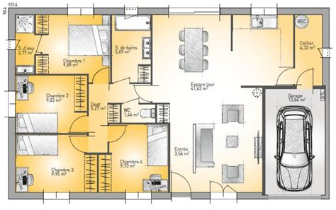 Plan De Maison Quatre Pieces