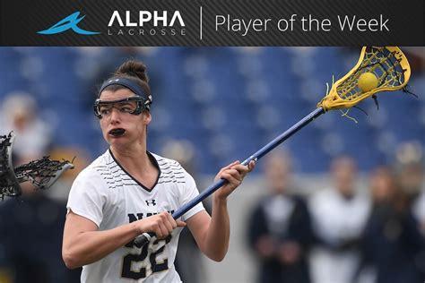 Alpha Lacrosse Player Of The Week Julia Collins, Navy
