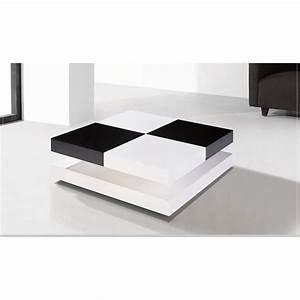 Table Laquee Blanc : table basse laqu e noir et blanc chelsea achat vente ~ Premium-room.com Idées de Décoration