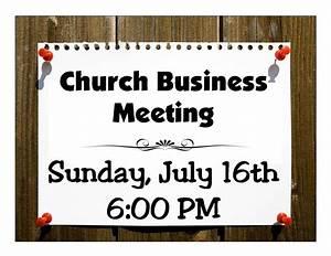 Church Business Meeting   Newton Baptist Church
