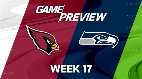 arizona cardinals  seattle seahawks nfl week  game