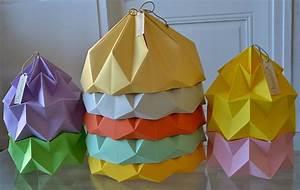 Abat Jour Origami : tuto origami abat jour ~ Teatrodelosmanantiales.com Idées de Décoration