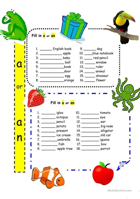 printables a or an worksheet messygracebook thousands of