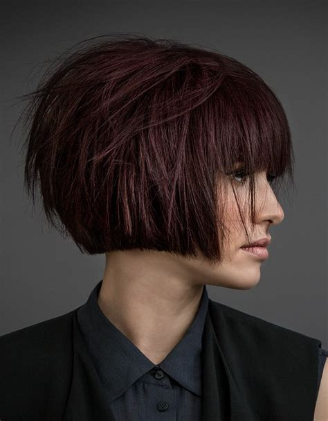 la moda en tu cabello modernos cortes bob  flequillo