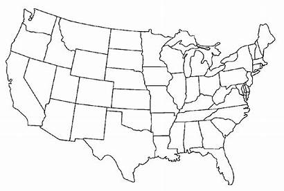 Coloring Map States United Pages Blank